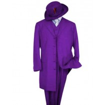 Purple Alberto Nardoni Dual Pleated Pants Notch Lapel Suit