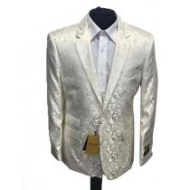 Alberto Nardoni Off White One Button Dinner Jacket Tuxedo