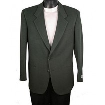Mens Single Breasted Two Button Notch Lapel Olive Blazer