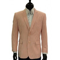 Alberto Nardoni Orange Sear Sucker Sport coat Jacket