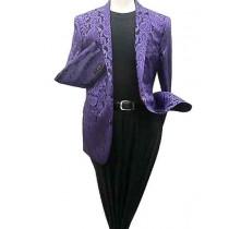 Alberto Nardoni Purple Shiny Microfiber Silky Blazer