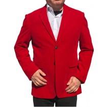 Alberto Nardoni Red Velvet Velour  Overcoat