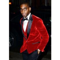Alberto Nardoni Red Velvet Suit