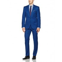 Alberto Nardoni Dual Vents Suit In Royal blue Indigo