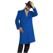 Mens Alberto Nardoni Brand Sapphire Full Length Coat Topcoat