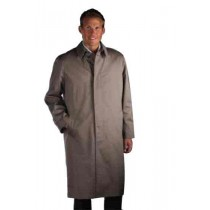 SINGLE BREASTED CLASSIC POPLIN TAUPE RAINCOAT-TRENCH COAT