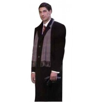 "Single Breasted Long Overcoat 3 Button Front Center Vent 48.5"" Coat"