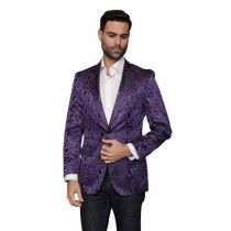 Alberto Nardoni Single Breasted Purple  coat