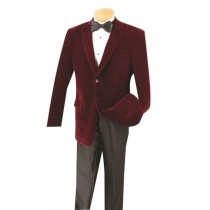 Cheap Big and Tall Wine Clearance Velvet Blazer / Sport Coat