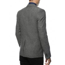 Black And White Tweed Blazer - Gray Herringbone Sport Coat - Slim Fit Mens Blazer