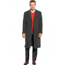 Mens Black Wool full length - Mens  Topcoat / Overcoat