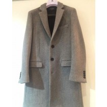 Mens grey dress coat – single breasted three button coats