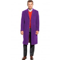 Mens Purple Wool full length - Mens   Topcoat  / Overcoat