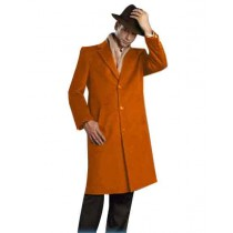 Mens Rust Alberto Nardoni Brand Full Length Topcoat