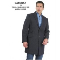 Three Button Fully Lined Charcoal Grey Wool - Cashmere Topcoat - Mens Cashmere Overcoat - Cashmere Coat