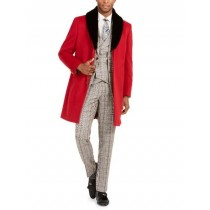 Mens Red Trench coat - Wool Fabric Trench Coat For Men