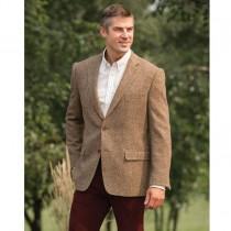 Tweed Sportcoats - Tweed Blazer  Dark Brown