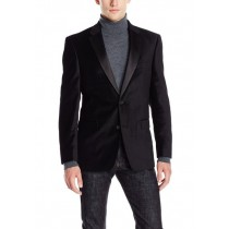 Black Big And Tall Clearance Blazer Velvet Sport Coat