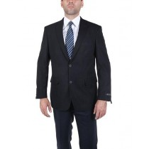 Mens Single Breasted Two Button Blue Notch Lapel Blazer