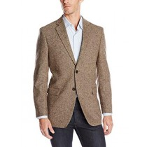 SINGLE BREASTED PORTLY WOOL BLEND SPORT COAT