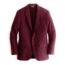 Alberto Nardoni Burgundy Two Buttons Cashmere Wool