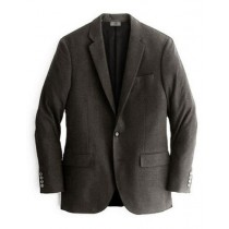 Alberto Nardoni Chocolate Notch Lapel Cashmere Wool