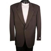 Mens Dark Olive Single Breasted Two Button Blazer