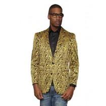 Mens Paisley Alberto Nardoni Brand Jacket Gold Sport Coat
