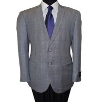 Two Button Grey Wool Slim Fit Sport Coat Blazer