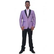 Mens Two Button Lavender Floral Pattern Sport Coat