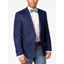 Navy Solid Two Button Classic Fit Sport Coat Blazer