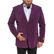 Alberto Nardoni Purple Velvet Velour Overcoat