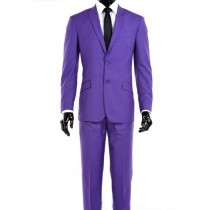 Notch Lapel Alberto Nardoni Modern Fit Suit In Purple