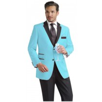 Sky Baby Blue Two Button Notch Alberto Nardoni Brand