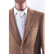 Men's 2 Button Lamb Wool Cashmere Sport Vicuna - Coat