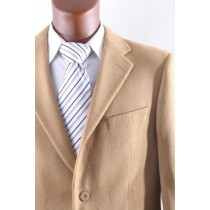 Mens Two Button Lamb Wool Cashmere Camel Sport Coat