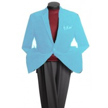 Two Button Classic Cotton/Rayon Sky Blue blazers