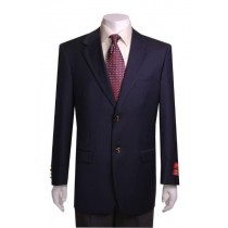 Mens navy Two Buttons Portly Blazer / Sport coat