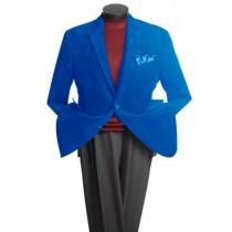 Two Button Classic Cotton/Rayon Royal Blue blazers