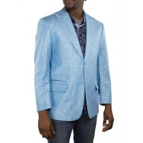 Alberto Nardoni One Ticket Pocket Turquoise Linen Blazer