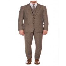 Brown Peak Blinder Custom Vested OverCoat Suit