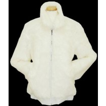 Men's White Faux Fur Bomber Big And Tall Bomber Jacket