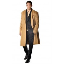 Men's Long Men's Dress Topcoat - Winter Coat - Overcoat - Coat By Lora Piana Fabric