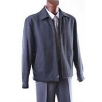 Wool coat with zipper - Charcoal  Peacoat with zipper