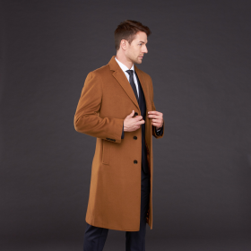 Brown One Chest Pocket Three Button Single Breasted - Vicuna - Coat