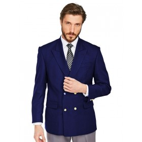 Mens Navy Blue Double Breasted Peak Lapel.