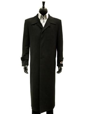 MicroFiber Black Trench Top Long Coat