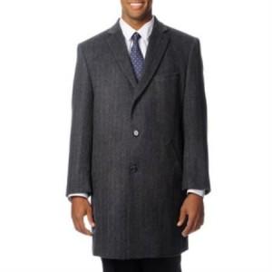 mens grey car coat Cashmere Blend Long Pronto Moda 'Ram' Top Coat