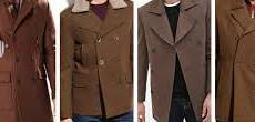 pea coats by color